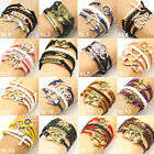 Many New Jewelry Fashion Leather Cute Infinity Charm Bracelet Style Pick DUOSL