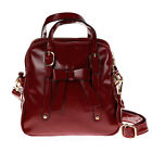 New Ladies Bow Shoulder Bag Faux Leather Satchel Cross Body Tote Womens Handbag