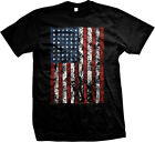Vertical American Flag USA United States Stars Stripes Patriotic Mens T-shirt image