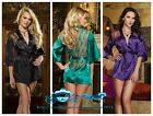 MXL2XLSexy/exotic Emulation silk lace nightgown/lingerie/sleepwear+thong pajamas