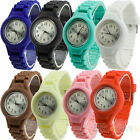 UNISEX NICE CHEAP SILICONE BAND JELLY GEL QUARTZ ANALOG SPORTS WRIST WATCH B78K