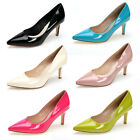 US5-9 Patent Leather Classic Pointy Toe Office Work Shoes pumps shoes  [HA]