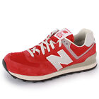 New Balance 574 ML574 Mens Suede Trainers Red Grey New Shoes All Sizes