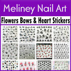 Nail Art Stickers - Flowers Hearts Bows Music cherry stars Decorations Decal