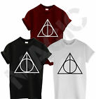 THE DEATHLY HALLOWS T SHIRT VOLDEMORT HARRY POTTER MAGIC BOOKS MENS WOMENS