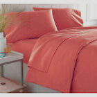 600 TC Egyptian Cotton SHEET SET Percale Light Red