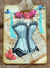 Hang Tags  FRENCH PARIS BLUE CORSET LETTER TAGS #374  Gift Tags