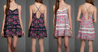 NWT Abercrombie and Fitch Women's Charlie Dress (Pink, Navy Floral), XS,S, M