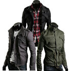 UK Mens Designer Military Style Outdoor Casual Spring Thin jacket Coat Outerwear
