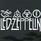 "*9.5""x1P. LED ZEPPELIN ROCK BAND 4 SIGN DECAL STICKER DIE CUT NO BACKGROUND"