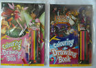 Colouring & Drawing Book - Fairies, Pirates with 5 Colouring Pencils for ages 3+