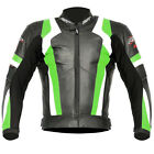 RST Blade Leather Sports Motorcycle Jacket - Green