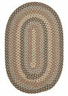 Boston Common Driftwood Teal Oval Braided Rug ~ Size Choice