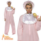 Adult Baby Costume Womens Mens Fancy Dress Romper Onesie Costume Stag Hen Pink