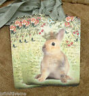 Hang Tags  ROYAL FRENCH BUNNY RABBIT FLORAL TAGS or MAGNET #660  Gift Tags