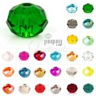 150x Rondelle Crystal Czech Loose Glass Bead Faceted Jewellery Making 3x4mm 5040