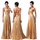 2014 Elegant Satin Wedding Bridesmaid Gown Cooktail Prom Evening Dress IN Stock