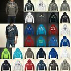 New Hollister by Abercrombie Men Harbor Beach HOODIE Zip Up Sweat shirt Muslce