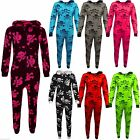 Kids Girls Boys Skull & Cross Bone Halloween Costume Onesie All In One 7-13 Yrs
