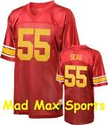 JUNIOR SEAU Red NCAA Rivalry USC Trojans LEGENDS Tackle THROWBACK Jersey M-2XL