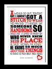 The Smiths This Charming Man  song lyric typography canvas or art print poster