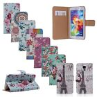 Flower Magnetic Flip Leather Wallet Case Cover Stand for Samsung Galaxy S5 i9600