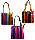 BN - Ladies Within the Lines Bag Recycled Goat Leather Shoulder Zip Handbag