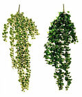 Artificial Flowers Ivy Trail Hanging Basket Bush 95cm Foliage