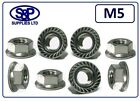 M5 - 5MM STAINLESS STEEL HEXAGON FLANGE NUT GRADE 304 A2 ST/STEEL FREE P&P