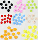 New 100pcs Resin Plastic Round Buttons 2 Holes 15mm Buttons Colors for Pick