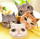 FD533 New Cute Cat Face Zipper Case Coin Purse Wallet Makeup Buggy Bag Pouch 1pc