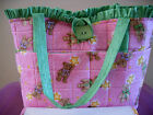 Pink Teddy Bears Girls Diaper Bag - Perfect Size w Changing Pad - Adorable!!