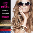 Full Head Clip in 100% Remy Human Hair Extensions