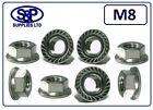 M8 - 8MM STAINLESS STEEL HEXAGON FLANGE NUT GRADE 304 A2 SERRATED FLANGE NUT