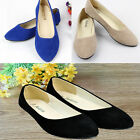 Hot Women Lady Suede Dolly Shoes Slippers Loafers Moccasins Ballet Slip-on Flats