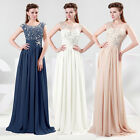 Vintage Lace Chiffon Sexy Long Maxi Evening Prom Gown Bridesmaid Wedding Dresses