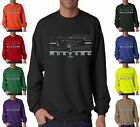 Ford Mustang Front Grill Logo Pony Racing Crewneck Sweatshirt S-3XL