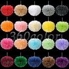 "12 Tissue Paper Pom Poms Flowers Blooms Wedding Party Decoration 6""/8""/10""/15"""