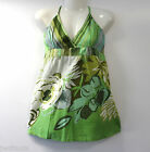 NWT STRAPPY PISTACHIO X OVER FLORAL SUNTOP GREEN OR BEIGE/BROWN 12 & 14