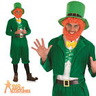 St Patricks Day Costume Leprechaun Fancy Dress Mens Stag Irish Outfit + Wig