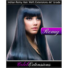 "♚ 75G Indian Remy Double Weft ♚ Human Hair Extensions Remi ♚ 18"" 20"" 22"" 24""  ♚"