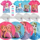 Cute Baby girls Short Sleeve Tops & Pants 2 pieces set Frozen 2-7 Years old