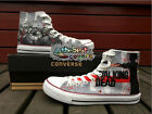 CONVERSE All Star THE WALKING DEAD SALE!horror series hand painted shoes zapatos