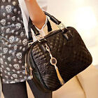 Fashion Ladies Quilted Tote Handbag Tassels Evening Shoulder Crossbody Bag Purse
