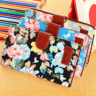 Fabric PU Leather Flip Jacquard Wallet Case Cover For Samsung Galaxy S5 S5HBUW