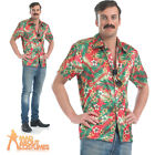 Magnum PI Costume Hawaiian Shirt 80s Mens Fancy Dress Tom Selleck Outfit