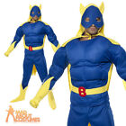 Bananaman Costume Superhero Banana Man Adult Fancy Dress 80s Outfit