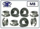 M8 - 8MM A2 STAINLESS STEEL SERRATED FLANGE NUT GRADE 304 A2 ST/ST 13MM SPANNER