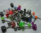 32-64PCS Wholesale Body Piercing Labret Lip Belly Tongue Eyebrow Bar Rings