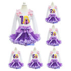 Purple Lavender Pettiskirt Rapunzel Tangled Princess 1-6 Birthday Party Dress